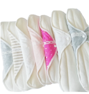 7-piece combination Japanese handmade cotton cloth washable daily panty liner can be repeatedly cleaned pregnant women sanitary napkins