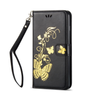 Flip Fundas Butterfly Bronzing Leather Cases For Samsung J2 Pro 2021 J7 2021 J5 J3 2021 J1 Mini Prime J105 S5 S6 Edge Plus P02Z