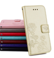 Rose embossed leather case