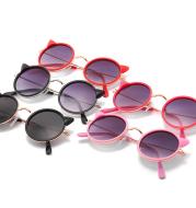 Retro cartoon cat sunglasses fashion round children sunglasses