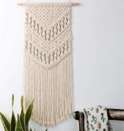 Bohemian literary handmade hemp rope woven pendant