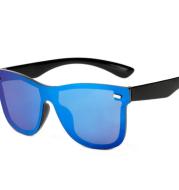 New Siamese Reflective Lens Sunglasses Retro Men and Women Driving Sunglasses Classic 007 Sunglasses