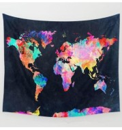 Net red bed head world map Nordic wind photo decoration cloth room dormitory hang cloth
