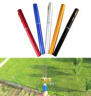 Genuine mini ice fishing pen pole fishing rod fishing rod with drum set, small sea pole portable fishing rod.