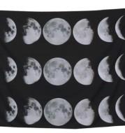 Starry universe moon hangs