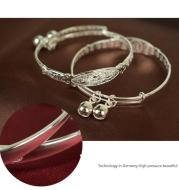 S990 Pure Silver Baby Bracelet Taobao baby jewelry baby silver bracelet BB silver ornament full moon gift