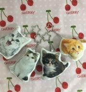 Pet Keychain Cat Dog Photo Custom Pendant