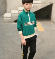 Children's clothing boy spring suit 2020 new big boy spring sweater boy handsome spring and autumn foreign sports tide