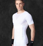 Men's corset underwear abdomen beam chest back belt shaping thin thin short sleeves reduce beer belly buckle