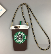 Coffee Cup with 8p Chain Back Silicone Sheath