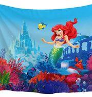 Underwater world mermaid tapestry