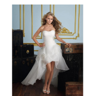 Short and long long tube top sweet European and American foreign trade wedding dress