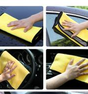 Car wash towel cleaning cloth special towel not lint car glass absorbent rag non-deer skin towel thickening without leaving marks