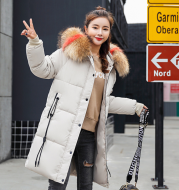 Winter new Slim cotton clothing women's long section thick fur collar down coat cotton anti-season cotton jacket