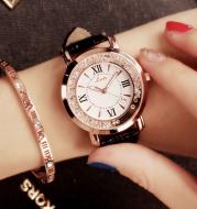 Mobile rhinestone women's watch Korean fashion trend student retro belt watch quartz watch