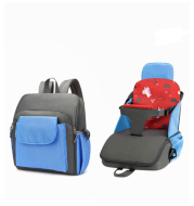 Baby dining chair bag portable children's dining chair portable home out safety seat bag car dual-use