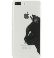 Ultra-thin soft plastic cartoon phone case cat mobile phone case
