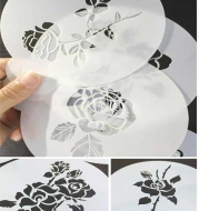 6 sets of rose cake decorated with sugar powder sieve Fondant mold spray pattern sprayed pattern hollow template