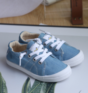 Children's lazy shoes canvas shoes Sneakers One-legged boys and girls baby memory foam casual shoes