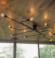 American loft retro industrial style creative ceiling lamp bar wrought iron spider gecko ceiling decorative lighting