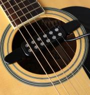 Acoustic guitar sound hole pickup