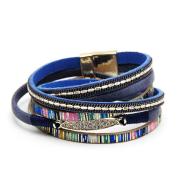 Vintage bohemian bracelet 38 cm multi-layer woven diamond jewelry