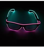 Prom party glasses EL cold light LED luminous glasses fluorescent glasses flash luminous glasses