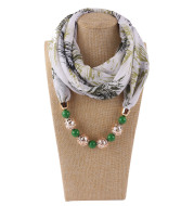Chiffon scarf spring and summer Necklace
