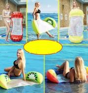 New Fruit Hanger ins Hot-selling Fruit Floating Bed with Net Hanger Inflatable Floating Bed Back-to-Back Adult Floating Bed