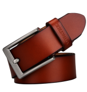 Casual leather wild leather belt fashion business men's pin buckle belt CF001