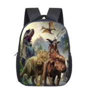 Jurassic dinosaur hot backpack primary and secondary school students wear-resistant burden reduction bag 3D printing a generation of factory direct sales