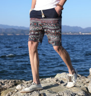 Men's Beach Pants New Five Pants Men's Casual Shorts Loose Thin Section Quick Dry Breeches