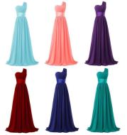 Long multi-color banquet evening dress