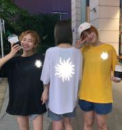 Reflective short-sleeved T-shirt