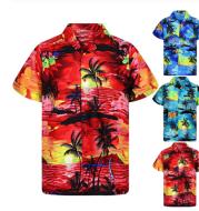 Loose printed beach shirt