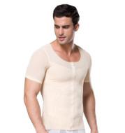 Men's corset stretch mesh