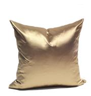 Gold brown thick satin pillowcase