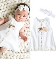 Girls baby sleeveless bow skirt
