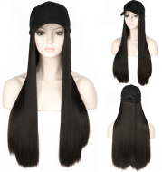 Hat wig one female wig female long hair natural fashion long curly hair big wave