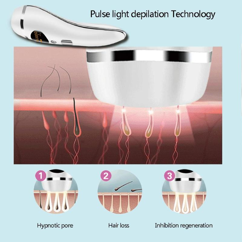 Laser hair removal device Permanent Hair Remover Shaving Pulse Light Depilation for armpits, hands