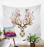 Flower Horns Wall Tapestry