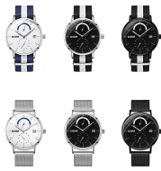 Men's ultra-thin minimalist calendar with quartz watch