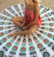 Round carpet scarf mandala tapestry