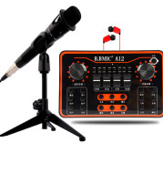Live sound card set karaoke microphone