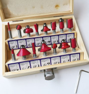Woodworking cutters wooden box 1/4 1/2