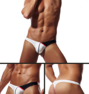 Men's sexy single thong pants ass
