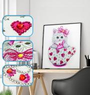 Cat handmade shaped diamond painting DIY