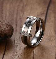 Tungsten carbide diamond ring, Men's fashion ring, Wedding ring