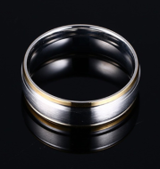 Vnox classic men wedding bands ring 8MM matte finish stainless steel gold and silver tone anniversary alliance gifts