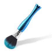 Single makeup brush makeup tool blue